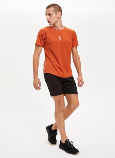 DeFacto Baskılı Extra Slim Fit Spor Tişört Kahve